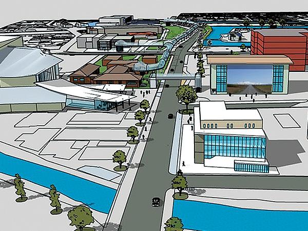 夢の鶴岡未来都市提案(3D CAD)